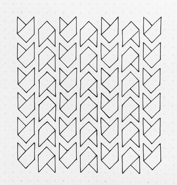 Geometriquilt: Sunday sketch #138-1