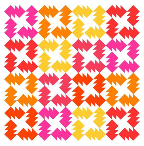 Geometriquilt: Sunday sketch #150-1