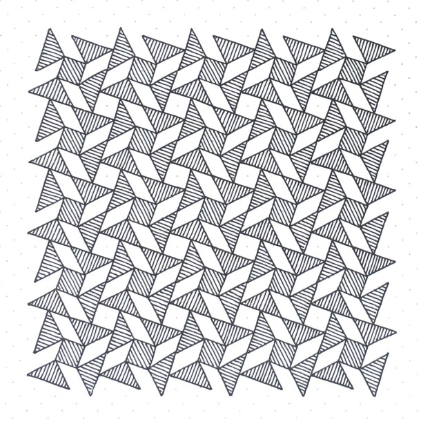 Geometriquilt: Sunday sketch #143-1