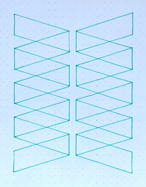 Geometriquilt: Sunday sketch #146-1