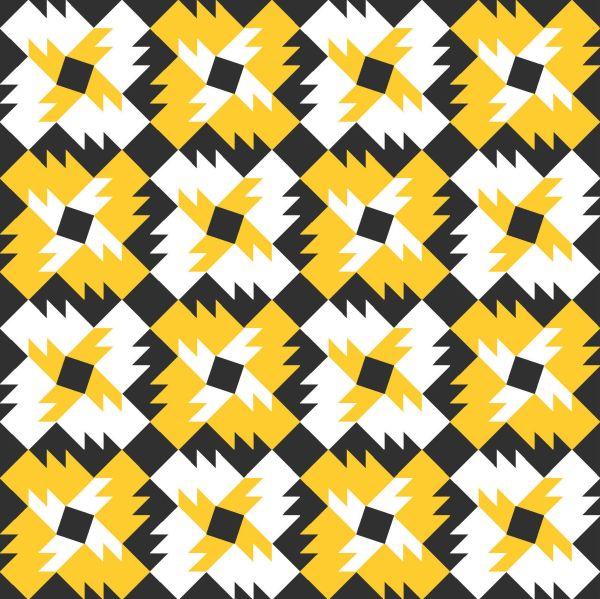 Geometriquilt: Sunday sketch #150-2