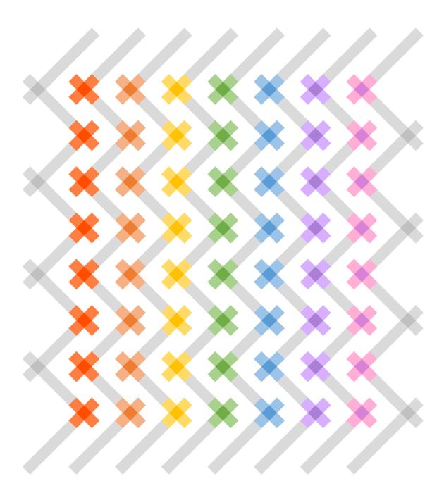 Geometriquilt: Sunday sketch #151-5