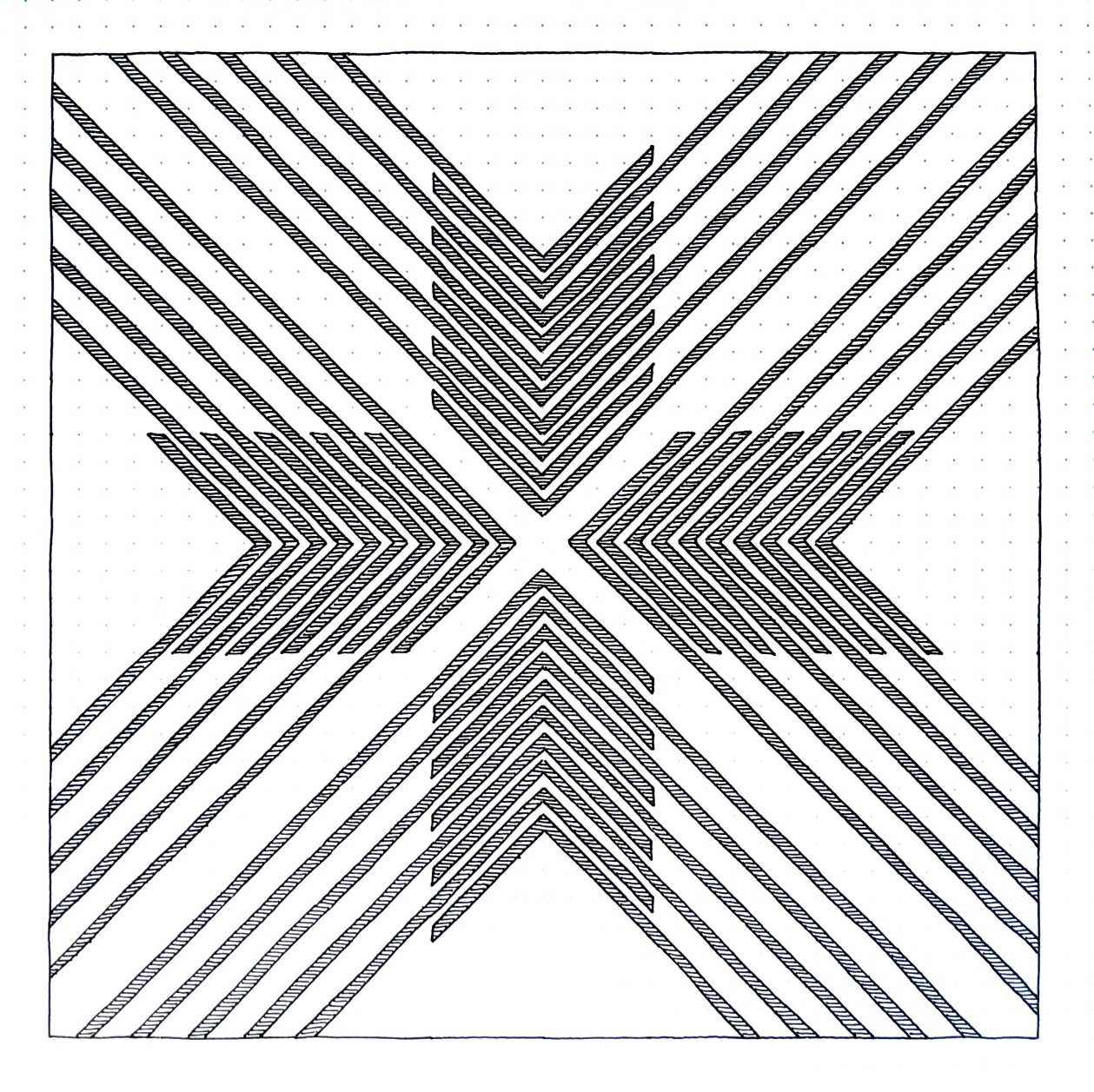 Geometriquilt: Sunday sketch #152
