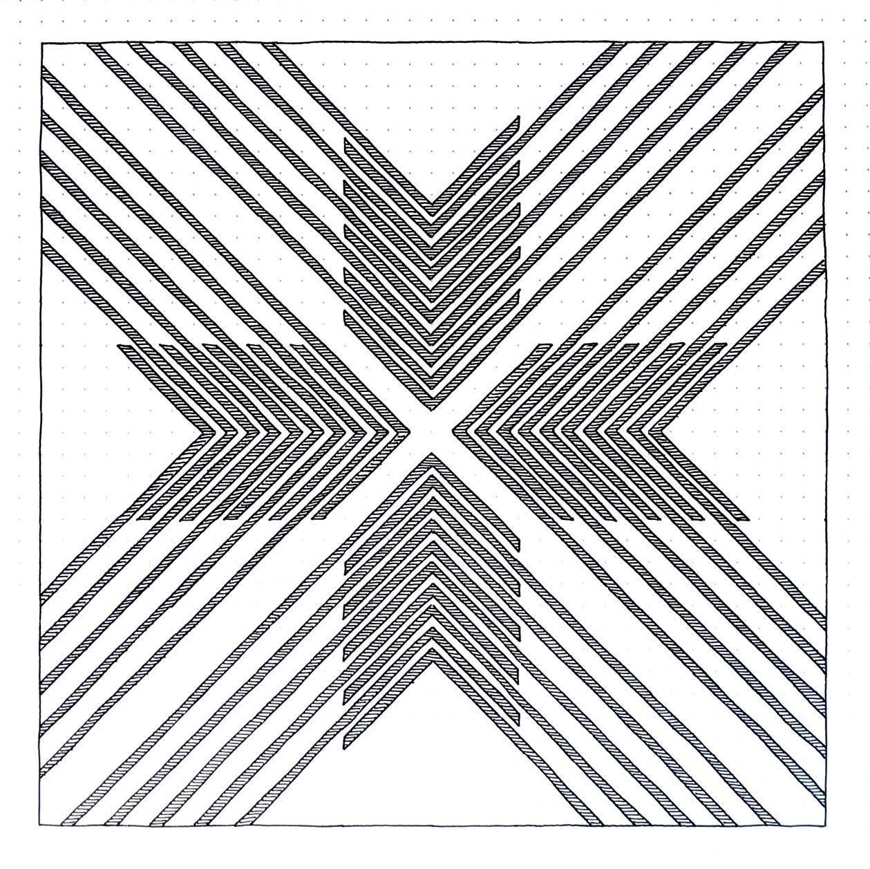 Geometriquilt: Sunday sketch #152