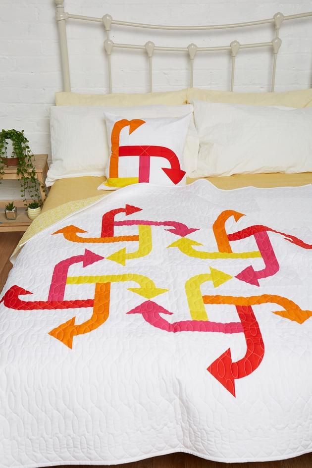 Geometriquilt: Whirlwind quilt pattern