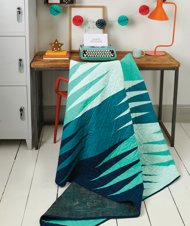 'Northern Lights' by Caroline Hadley (Geometriquilt), Love Patchwork & Quilting magazine, issue 80, October 2019.