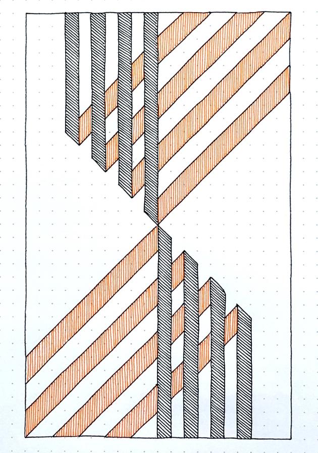 Geometriquilt: Sunday sketch #174
