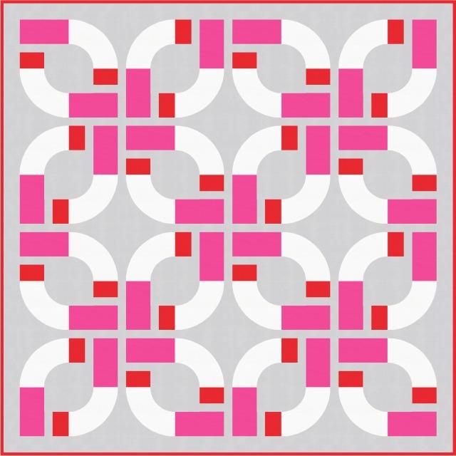 Geometriquilt: Sunday sketch #177-3