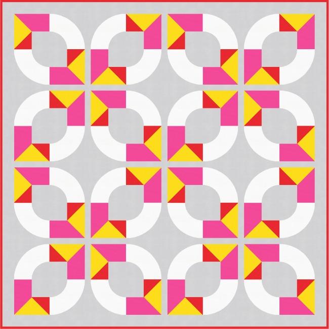 Geometriquilt: Sunday sketch #177-4