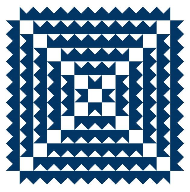 Geometriquilt: Sunday sketch #SS187-1