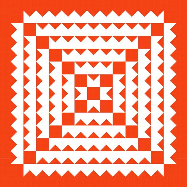 Geometriquilt: Sunday sketch #SS187-2
