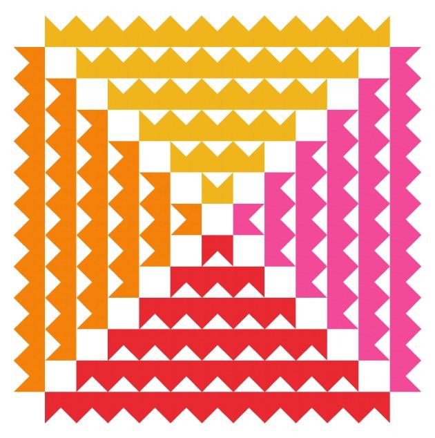 Geometriquilt: Sunday sketch #SS187-3
