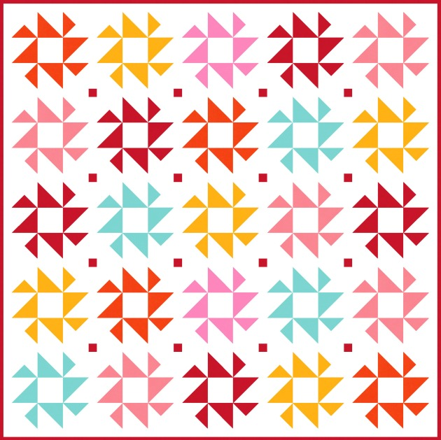 Geometriquilt: Sunday sketch #190-1