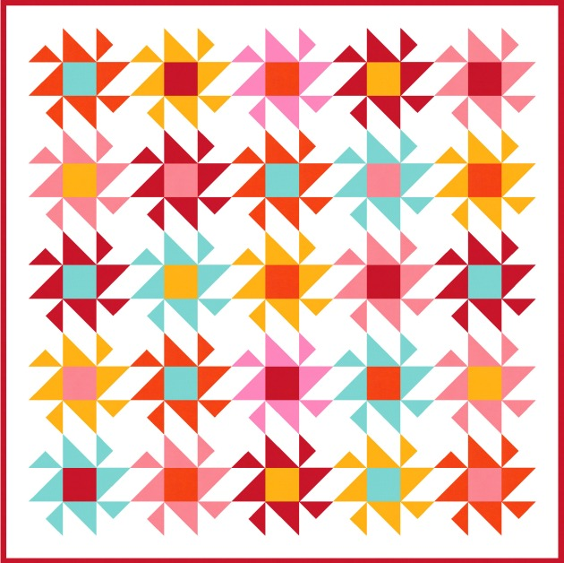 Geometriquilt: Sunday sketch #190-4