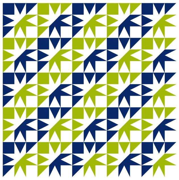 Geometriquilt: Sunday sketch #192-5