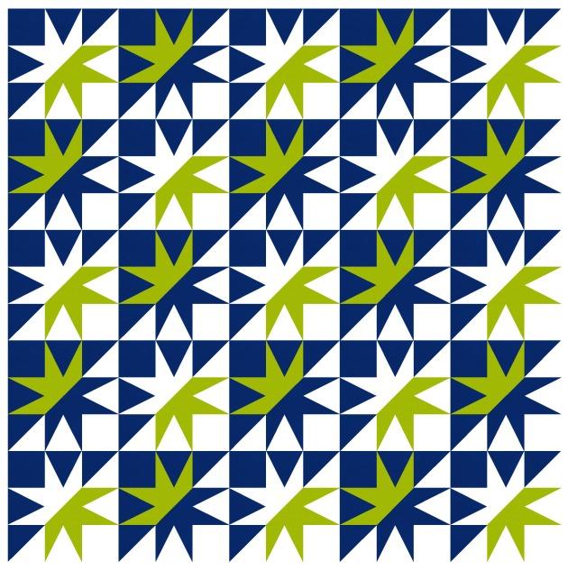 Geometriquilt: Sunday sketch #192-6