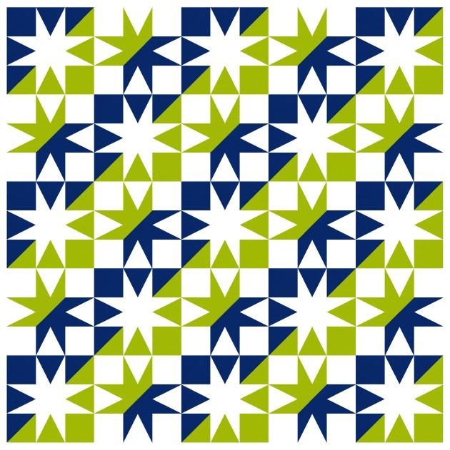 Geometriquilt: Sunday sketch #192-7