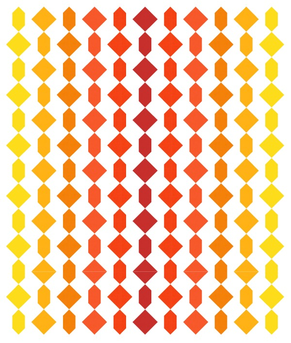 Geometriquilt: Sunday sketch #195-2