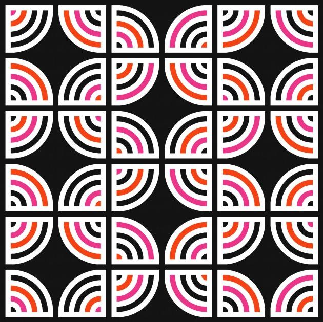 Geometriquilt: Sunday sketch #203-3