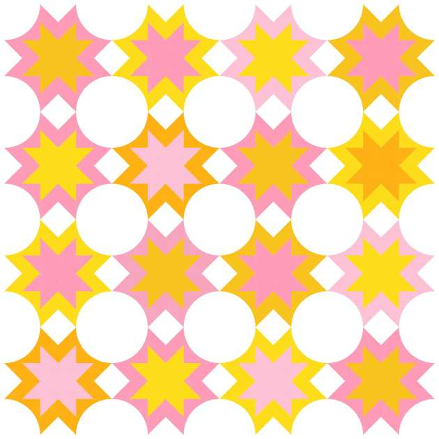 Geometriquilt: Sunday sketch #209-4