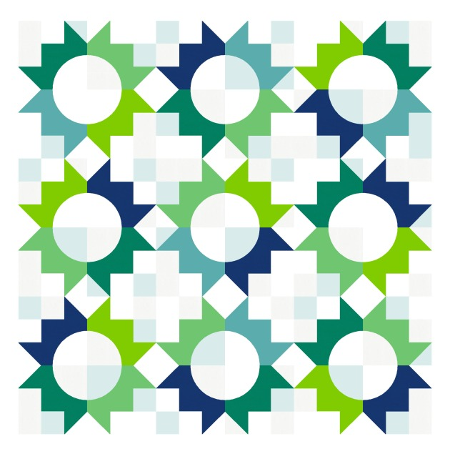 Geometriquilt: Sunday sketch #210-1