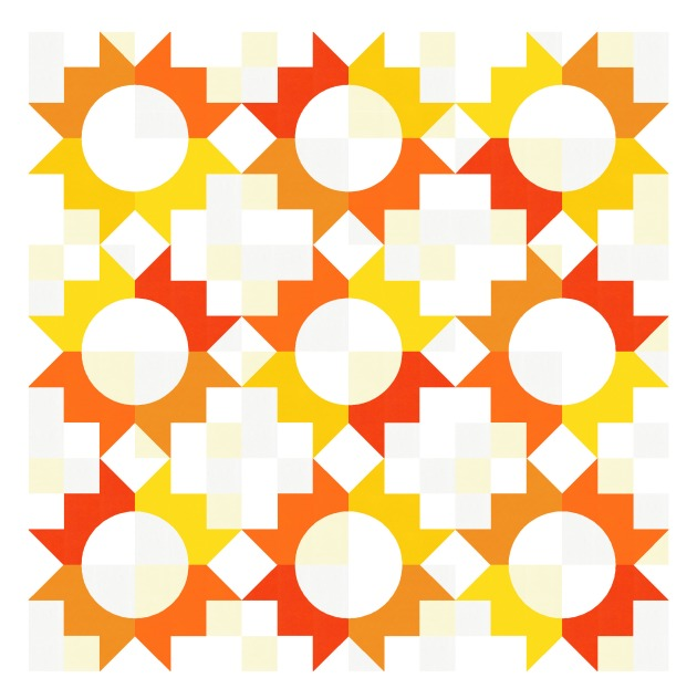 Geometriquilt: Sunday sketch #210-2