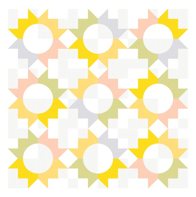 Geometriquilt: Sunday sketch #210-3