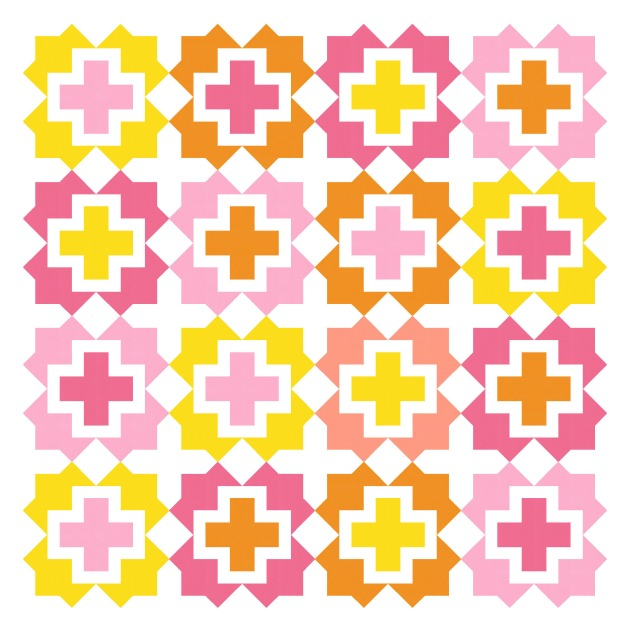 Geometriquilt: Sunday sketch #211-2