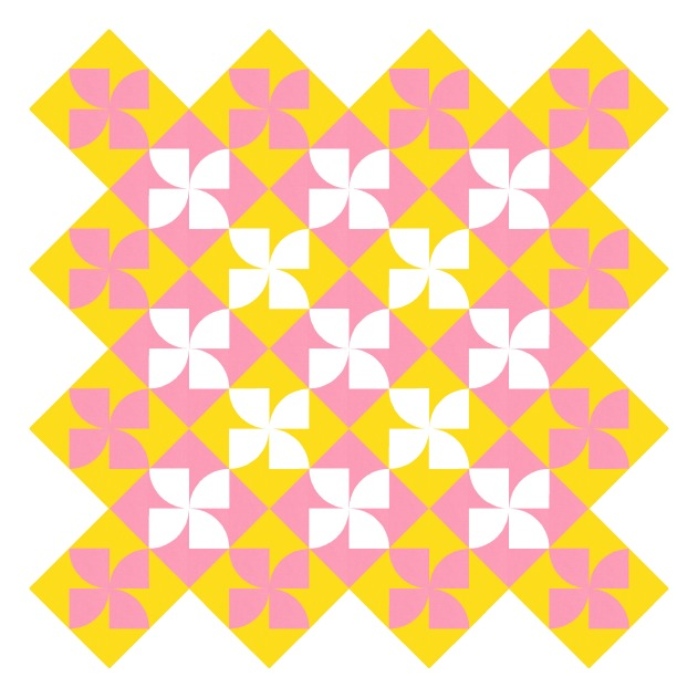 Geometriquilt: Sunday sketch #215-6