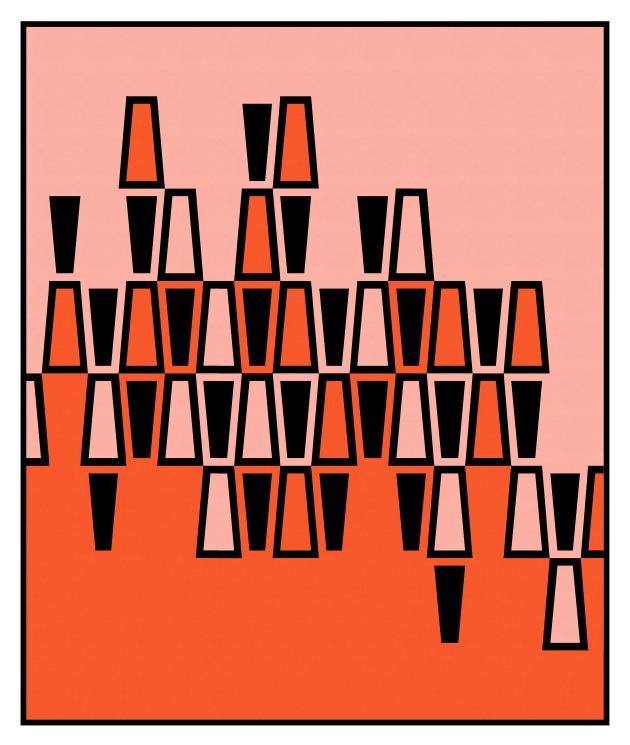 Geometriquilt: Sunday sketch #219-7
