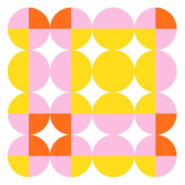 Geometriquilt: Sunday sketch 224-1