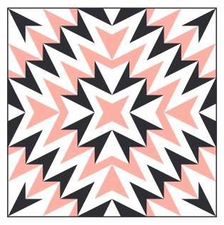 Geometriquilt: Sunday sketch #229-3