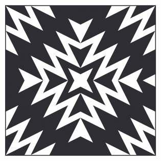 Geometriquilt: Sunday sketch #229-4