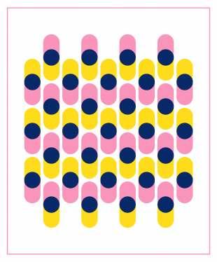 Geometriquilt: Sunday sketch #231-3