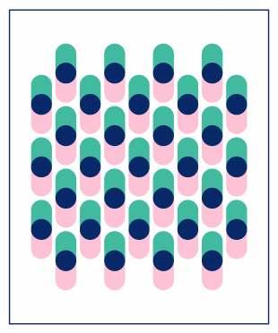 Geometriquilt: Sunday sketch #231-4