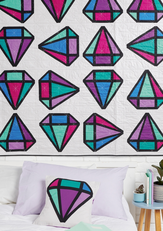 Geometriquilt: Diamond Days quilt pattern