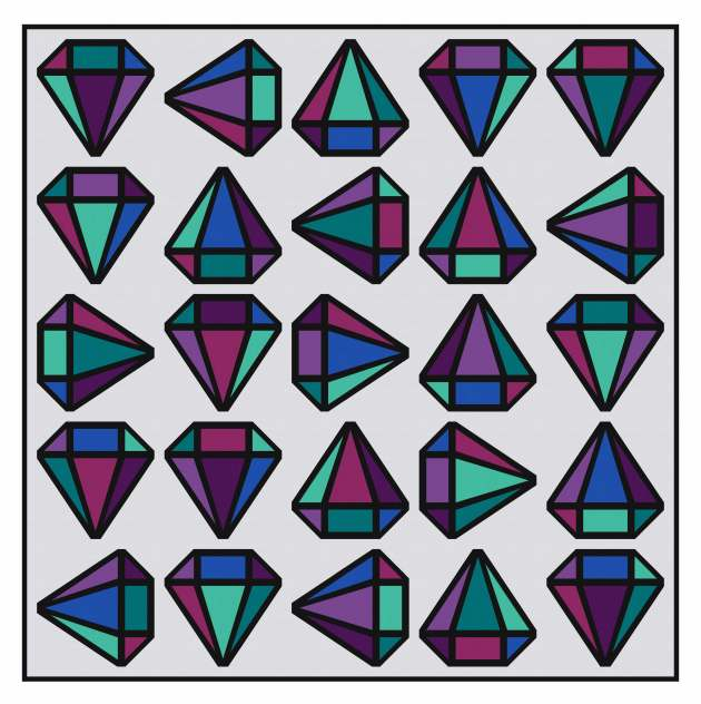 Geometriquilt: Diamond Days quilt design