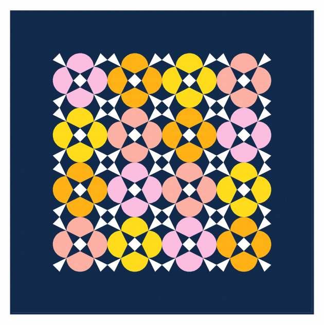 Geometriquilt: Sunday sketch #238-1