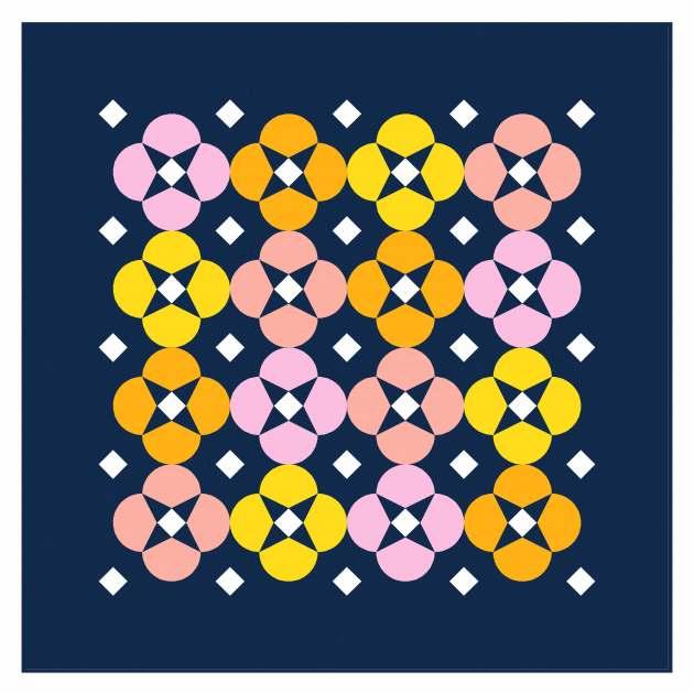 Geometriquilt: Sunday sketch #238-3