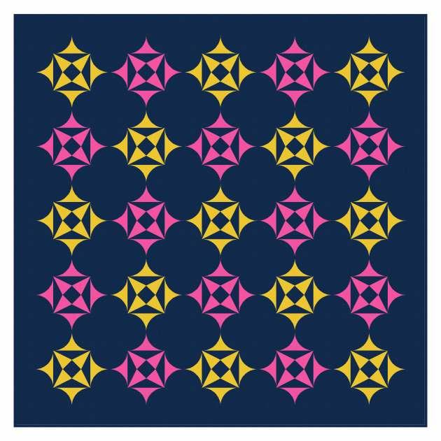 Geometriquilt: Sunday sketch #238-6b