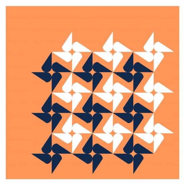 Geometriquilt: Sunday sketch #242-6