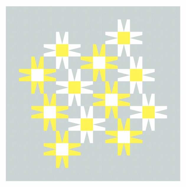 Geometriquilt: Sunday sketch #243-1